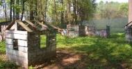 Пейнтбольная площадка вид на домики