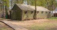 Армейский шатер (вместимость до 80 человек)